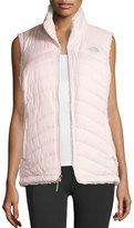 The North Face Mossbud Swirl Fleece & Taffeta Reversible Vest, Pink