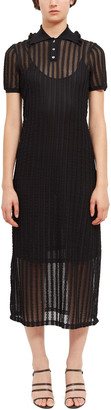 Opening Ceremony Ruffle Pointelle Polo Dress
