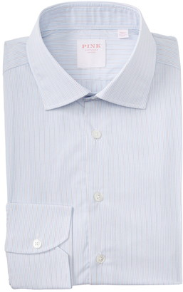 Thomas Pink Piumino Stripe Print Dress Shirt