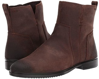 Ecco Touch 15 B Ankle Boot (Coffee Cow Suede) Women's Shoes
