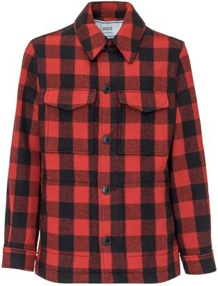 Ami Checked Button Jacket