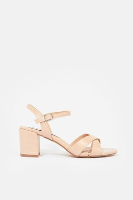 Coast Mock Croc Block Heel Sandal