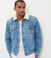 New Look Blue Borg Lined Denim Jacket