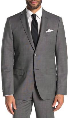John Varvatos Bedford Grey Birdseye Two Button Notch Lapel Suit Separates Jacket