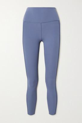 Nike Yoga Luxe Lattice-trimmed Dri-fit Leggings - Blue