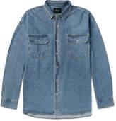 Fear Of God Oversized Washed-denim Shirt - Blue