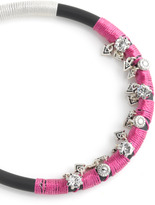 Rebecca Minkoff Rubber & Cord Crystal Flo Bracelet