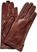 Lafayette 148 New York Chocolate Leather Gloves