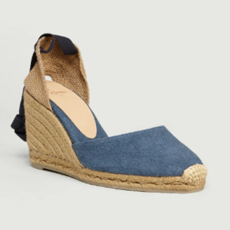 Castaner Blue Denim Cotton and Leather Carina Espadrille Sandal - Blue Denim | 38