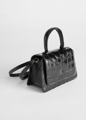 And other stories Croc Embossed Mini Leather Bag