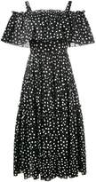 Dolce & Gabbana off-shoulder polka-dot dress