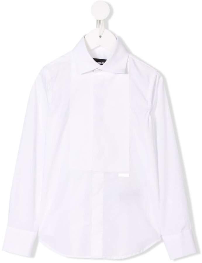 DSQUARED2 logo plaque tuxedo shirt