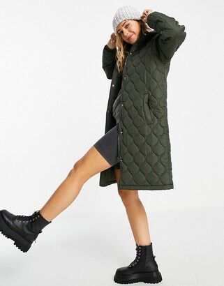 Brave Soul russette quilted coat