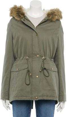 Sebby Juniors' Faux-Fur Hood Anorak Jacket