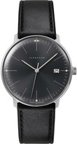 Junghans 041/4465.00 Max Bill stainless steel and leather quartz watch