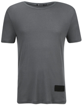 T By Alexander Wang Short Sleeve Tshirt With Silk Patch - Slate