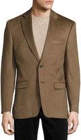 Neiman Marcus Cashmere Two-Button Blazer, Beige