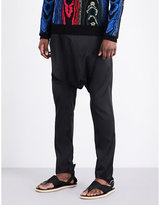 Balmain Carouel Dropped-crotch Silk-blend Trousers