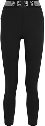 DKNY Mesh-paneled Stretch Leggings