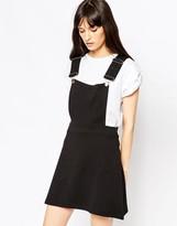 Asos Ponte Mini Skirt With Pinafore Bodice
