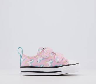 Converse 2vlace Trainers Unicorn Pink Glaze Multi