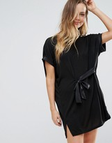Wal G Tie Front Tunic Dress