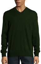 Black Brown 1826 Merino Wool V-Neck Sweater