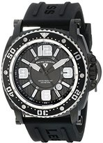 "Swiss Legend Men's 11503-BB-01-SA ""Typhoon"" Stainless Steel Watch with Silicone Strap"
