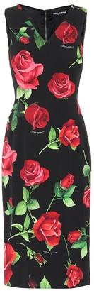 Dolce & Gabbana Floral stretch-silk charmeuse dress