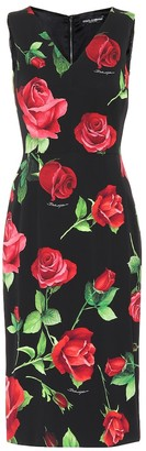 Dolce & Gabbana Floral stretch-silk charmeuse dress