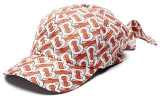 Burberry Foulard Monogram-print Silk Baseball Cap - Mens - Red Multi
