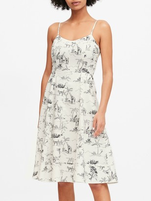 Banana Republic Linen-Cotton Midi Dress