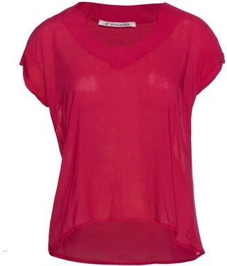 Conquista Dark Red Cap Sleeve Top