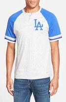 Mitchell & Ness Men's 'Los Angeles Dodgers - Visiting' Raglan Henley