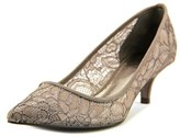 Adrianna Papell Lois Women Pointed Toe Canvas Gray Heels.