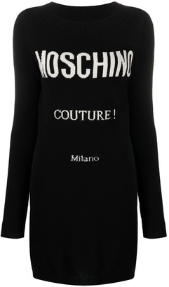 Moschino Couture logo-print knitted dress