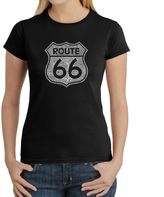 Bed Bath & Beyond Women's Word Art Route 66 T-Shirt in Black