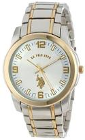 U.S. Polo Assn. Classic Two Tone Watch with Silver Dial
