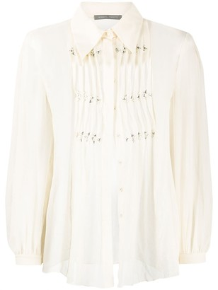 Alberta Ferretti Sheer Ribbed Shirt