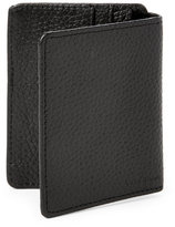 Cole Haan Black Front-Flap Money Clip Wallet