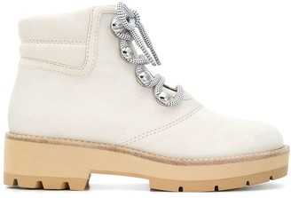 3.1 Phillip Lim Dylan canvas lace-up hiking boots