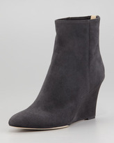 Jimmy Choo Mayor Suede Wedge Ankle Boot, Gray