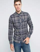Wrangler Slim Fit Western Check Shirt Castle Rock