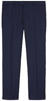 Jaeger Wool Pinstripe Regular Trousers, Blue