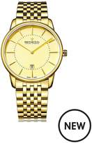 Dreyfuss & Co Dreyfuss Champagne Index Dial Gold Plated Strap Mens Watch