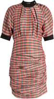 Isabel Marant Milton checked ruched poplin dress