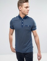 Ted Baker Pin Dot Polo with Pocket