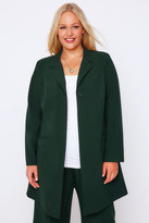 Yours Clothing Emerald Green Longline Blazer Jacket With Single Button