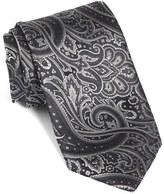BOSS Men's Paisley Floral Woven Silk Tie