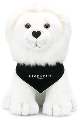Givenchy Kids Logo Print Lion Soft Toy